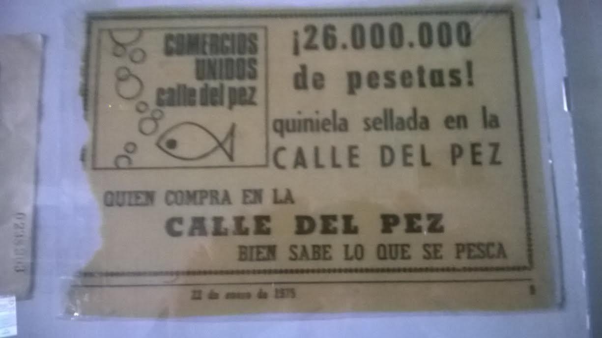 Anuncio original de los 26 millones de pesetas que se llevó quien acertó todos los resultados de una quiniela en 1975