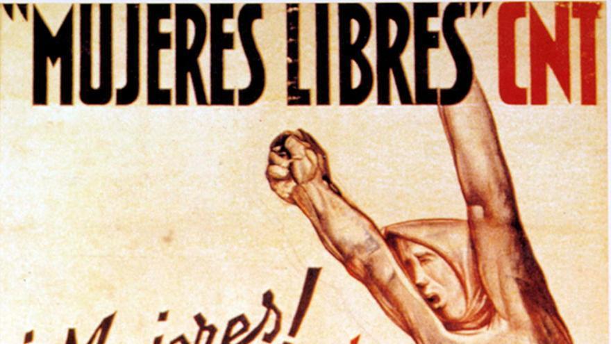 Cartel de la CNT, 'Mujeres Libres'.