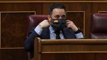 Santiago Abascal, durante el pleno del Congreso del pasado miércoles.