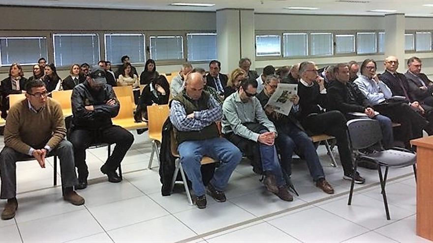 Los acusados del caso Emarsa durante el juicio que se está celebrando en Valencia