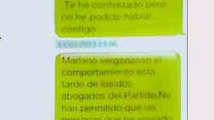El SMS de marzo de 2013 donde Bárcenas da por roto el pacto con Rajoy.