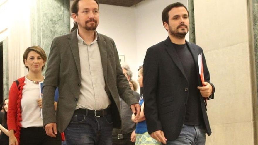 Pablo Iglesias y Alberto Garzón en una imagen de archivo
