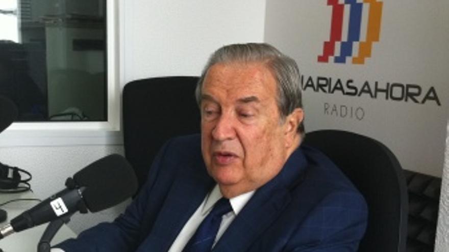 Jerónimo Saavedra, este martes en los estudios de CANARIAS AHORA RADIO.