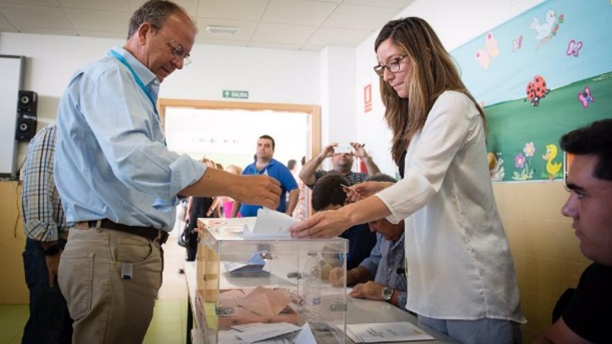 Monago, votando en Badajoz / PP Extremadura