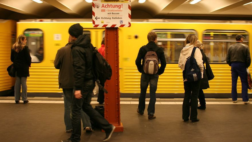 Imagen del metro de Berlin.
