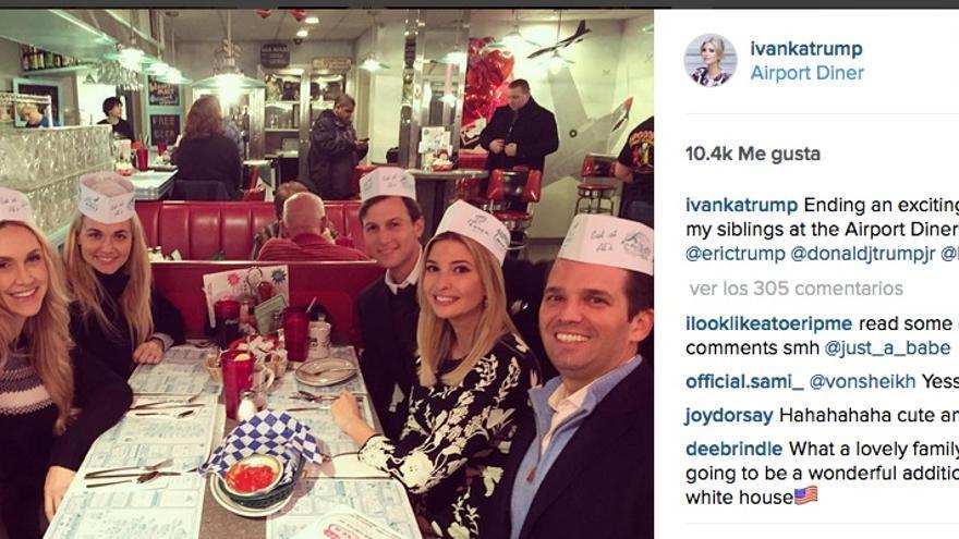 La familia Trump en una foto de Instagram de Ivanka Trump.
