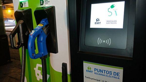 Punto de recarga rápida eléctrica | Fotografía: Ayuntamiento de Madrid