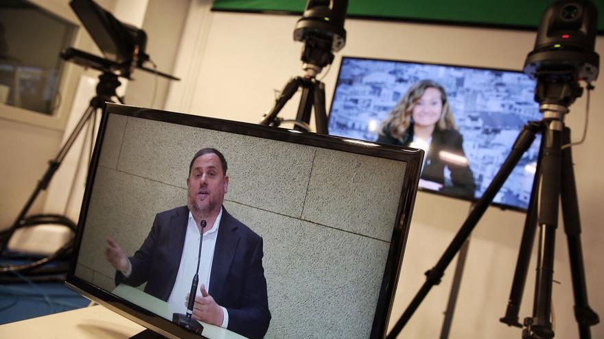 Oriol Junqueras durante una entrevista en Diario Ara