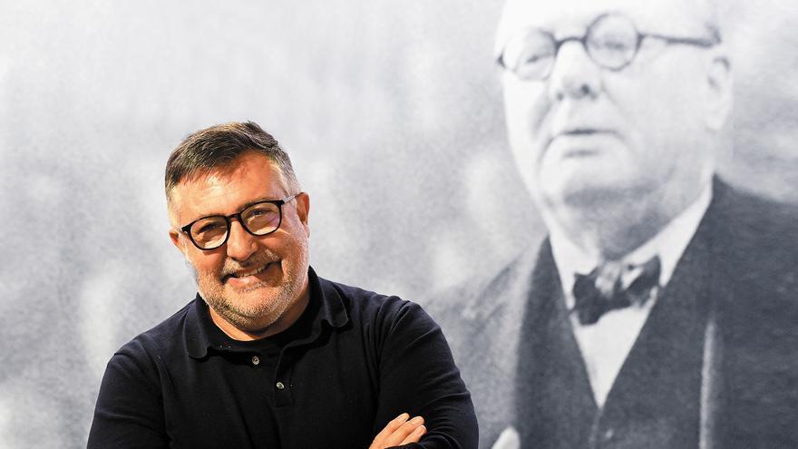 El exdirigente de ERC Joan Puigcercós, fotografiado tras esta entrevista.