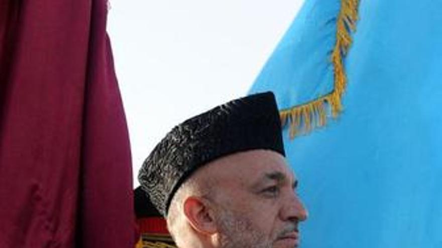 El presidente de Afganistán Hamid Karzai