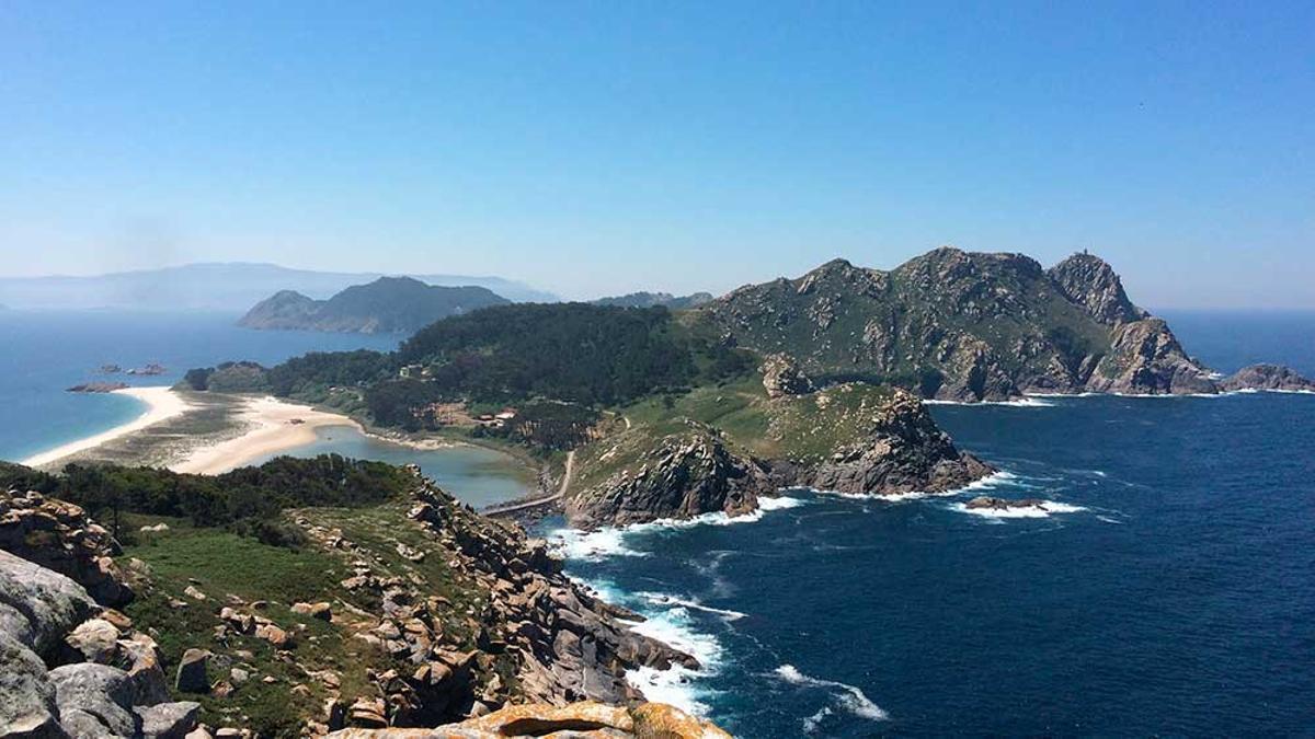Vista de las islas Cíes, en la ría de Vigo.