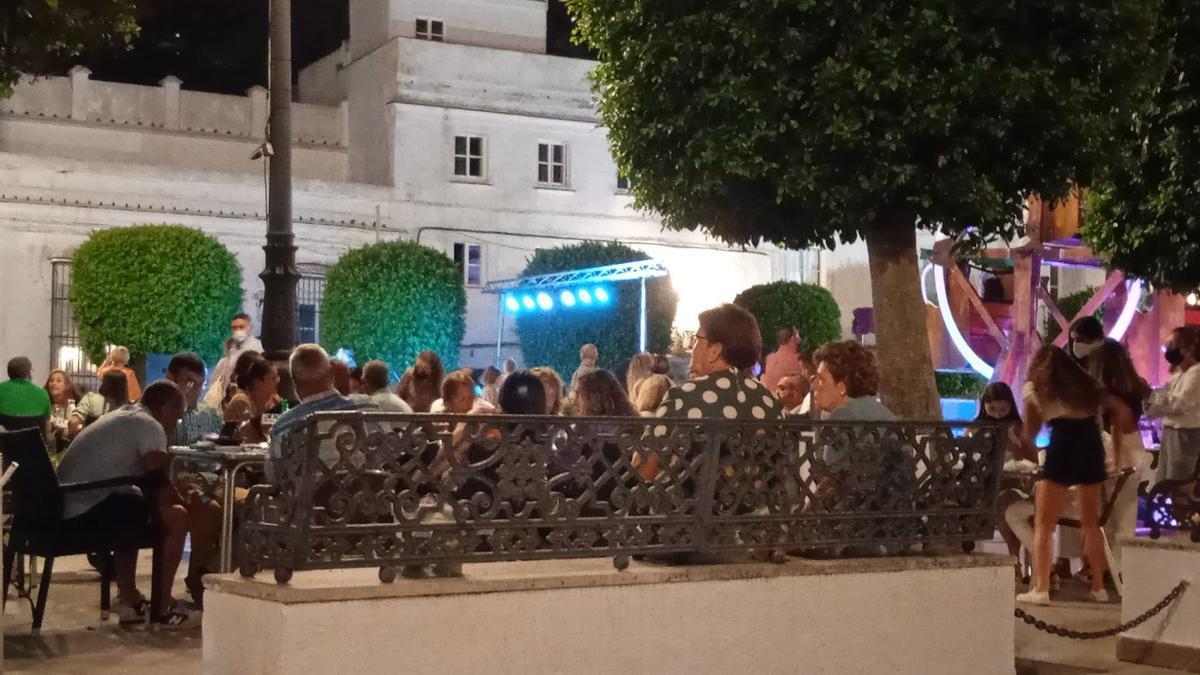 Plaza de Medina Sidonia vista desde el Bar Cádiz