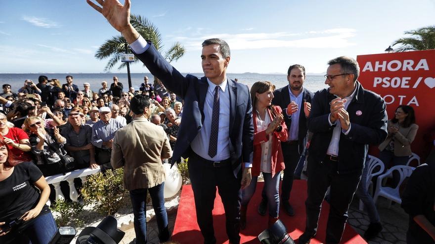 """Pedro Sánchez: """"A ganar y a regenerar el Mar Menor"""""""