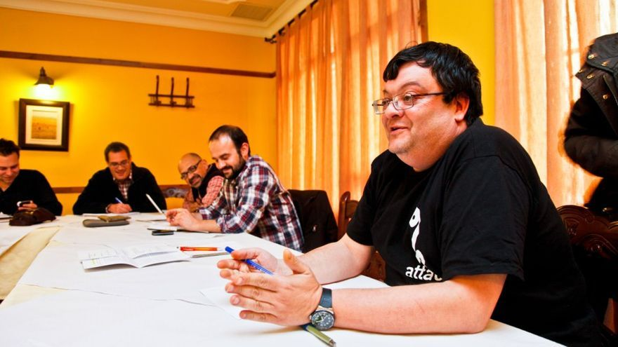 Fernando del Amo, coordinador de ATTAC en Castilla-La Mancha.