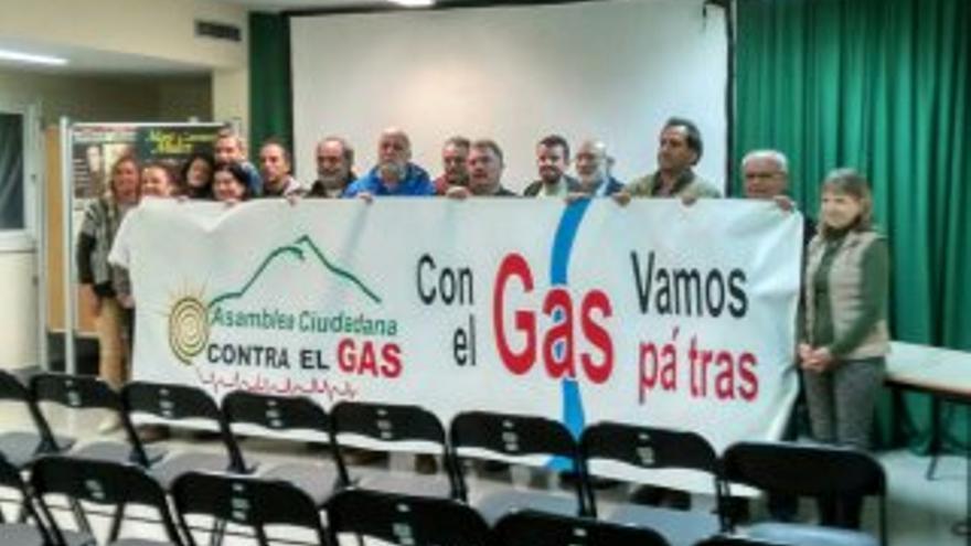 Asamblea ciudadana contra el gas.