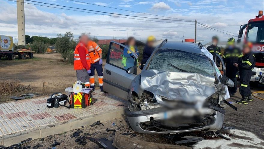 Accidente de tráfico cercar de Don Benito