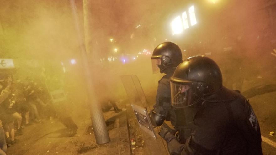 Cargas de la Policía Nacional en Barcelona