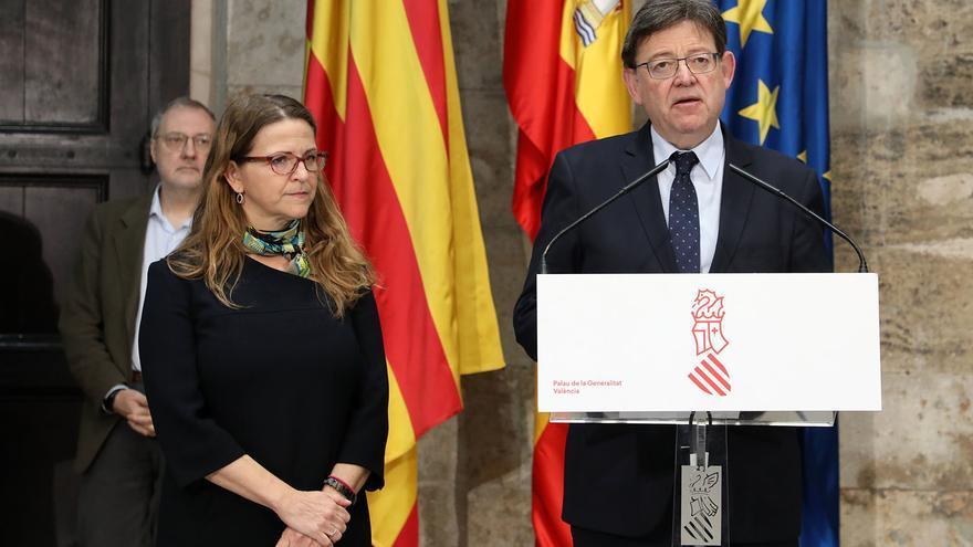 Ximo Puig junto a la consellera de Agricultura y Medio Ambiente, Elena Cebrián
