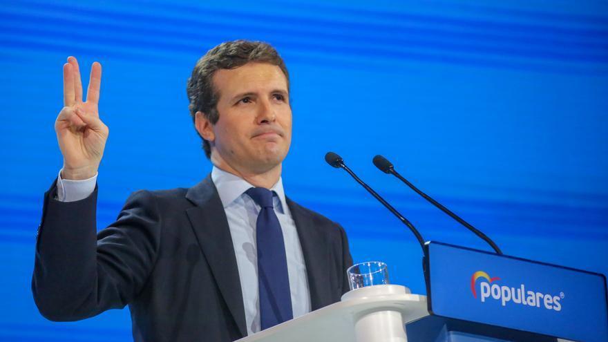 """Casado promete """"liberar"""" a la Cataluña """"secuestrada por una banda de racistas"""" que tiene a Sánchez """"en sus manos"""""""