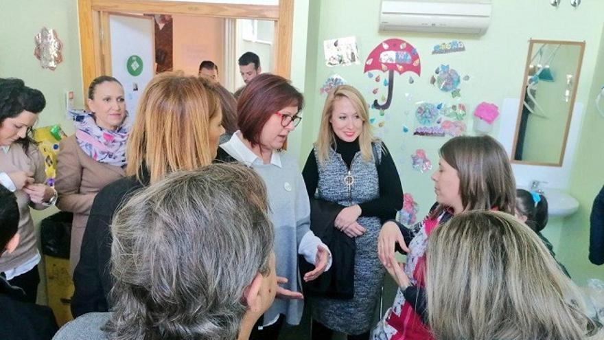 Isabel Franco en el Centro de Recursos Sociales Reina Sofía de Fortuna