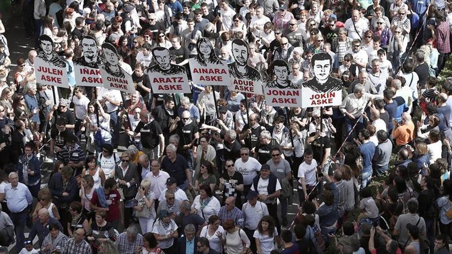 Un millar de personas reclama en Madrid la libertad para condenados Alsasua