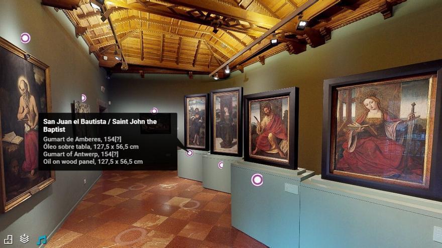Pantalla visita 3D a la Casa de Colón.