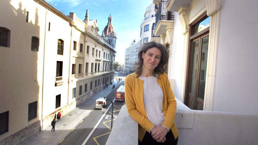 La candidata a la alcaldía de Podemos, María Oliver