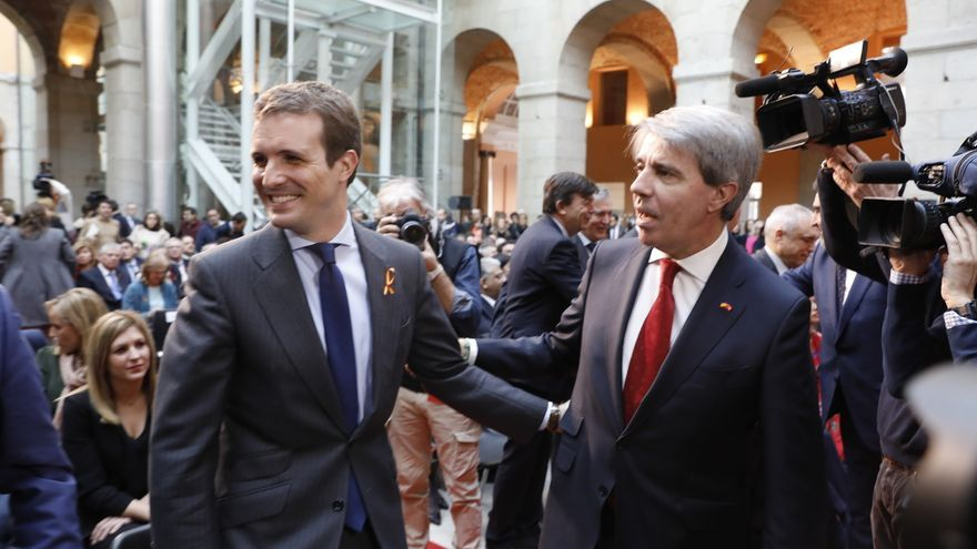 Garrido agradece la presencia de Casado en el acto de la Constitución de Sol, que no interpreta como un respaldo