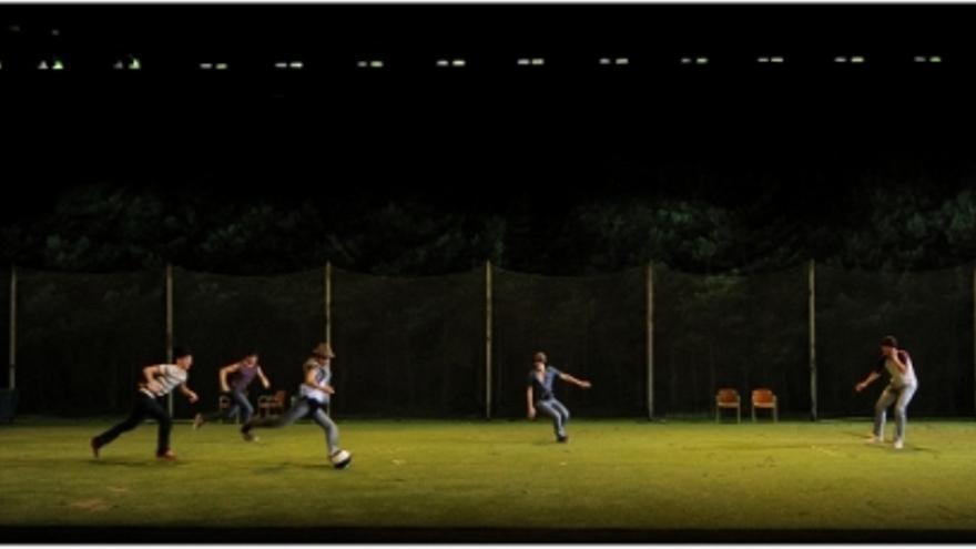 El TNC se convierte en un campo de fútbol... /David Ruano.