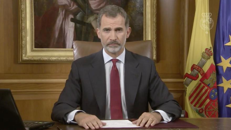 Discurso de Felipe VI tras el 1 de octubre