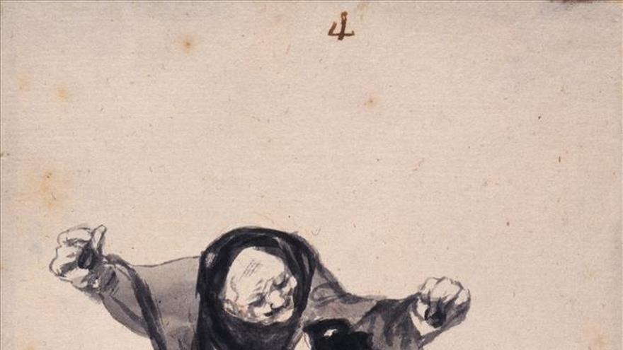 """Londres muestra casi completo, por primera vez, el álbum de """"las brujas"""" de Goya"""