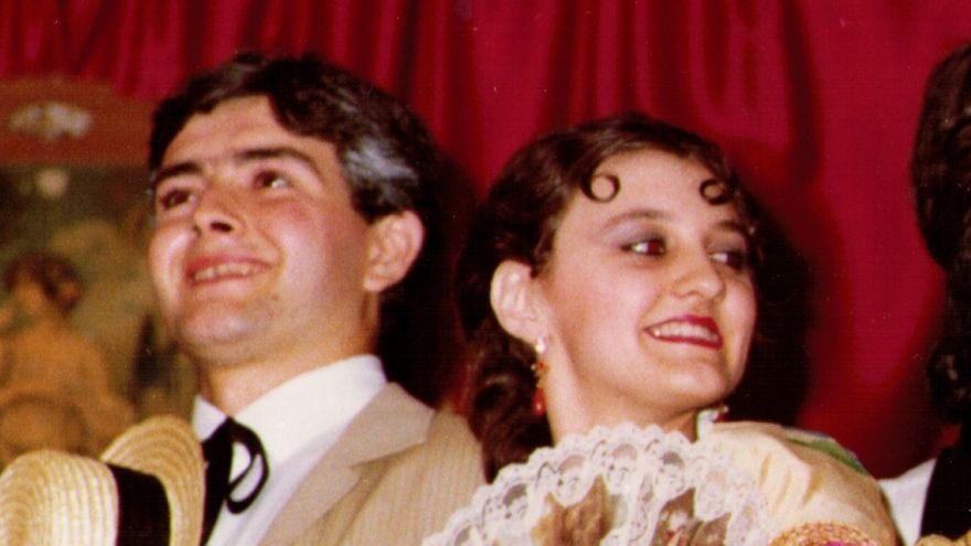 Antonio Saura y Esperanza Clares, primer montaje de Alquibla en 1984