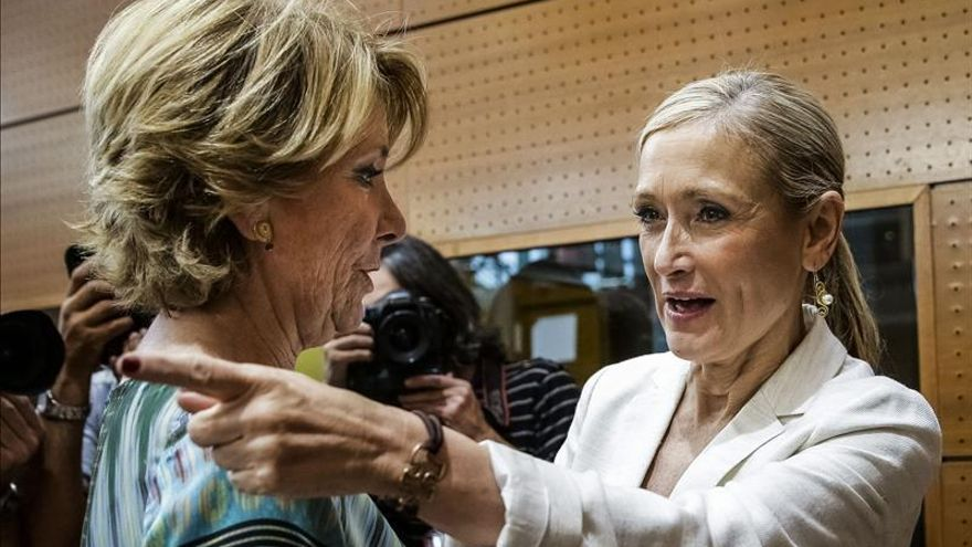 Cristina Cifuentes y Esperanza Aguirre, en una foto de archivo.