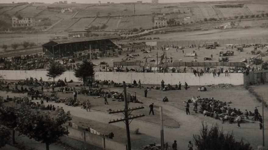 Campo de concentración ubicado en los Campos de Sport (Santander)