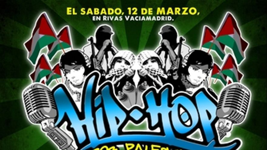 Cartel de hip-hop por Palestina