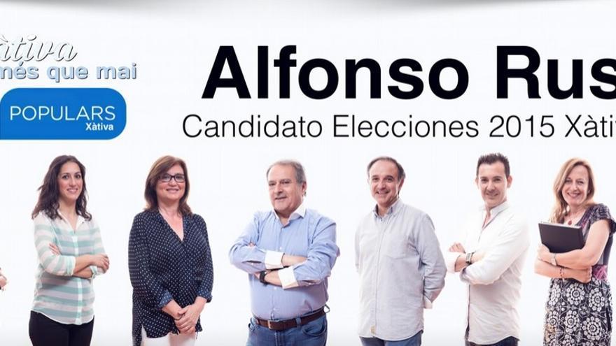 Alfonso Rus ha vuelto a aparecer en la web del PP de Xàtiva