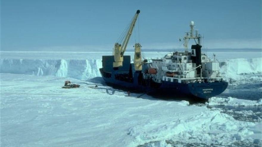 Banquisa de hielo en la Antártida