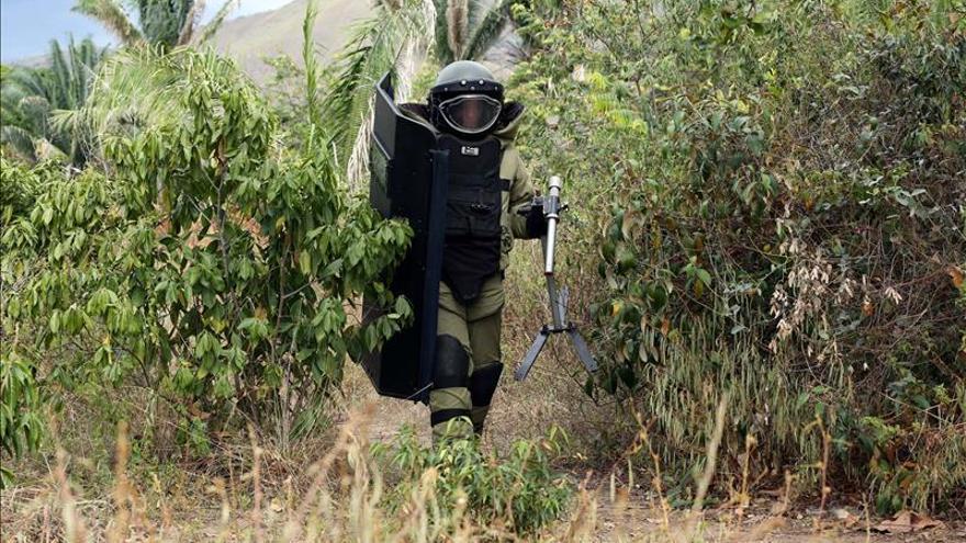 Muere un soldado en un ataque a una zona de desminado del noroeste de Colombia