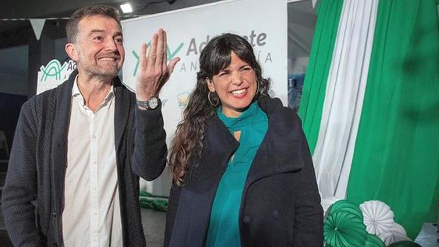 Teresa Rodríguez y Antonio Maíllo. EFE