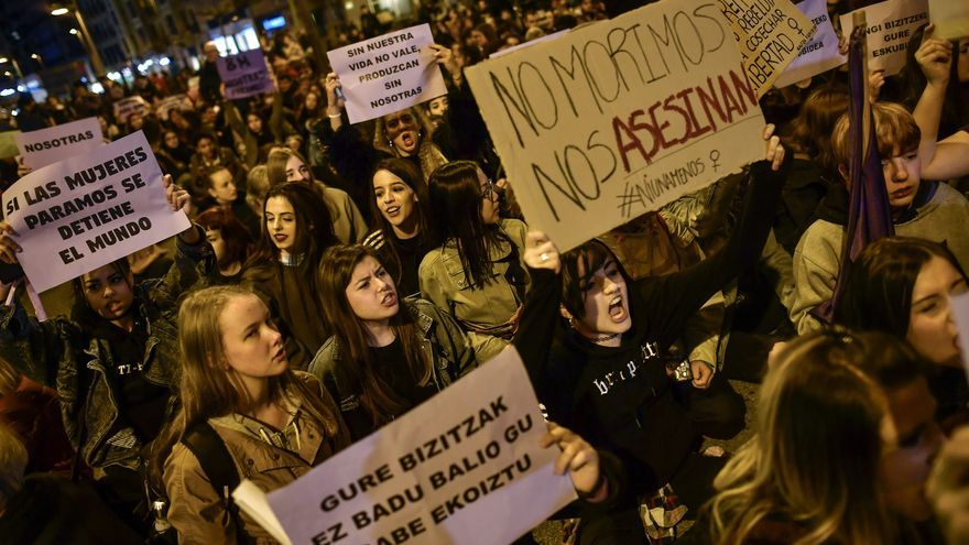 Manifestación en Pamplona, marzo de 2017 // AP Photo/Alvaro Barrientos