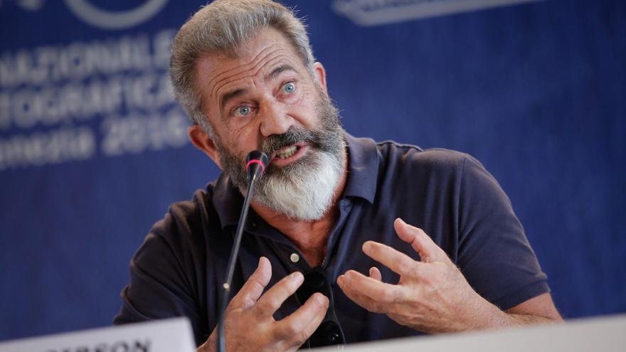 El actor y director Mel Gibson, durante la rueda de prensa de 'Hacksaw Ridge' en la Mostra de Venecia
