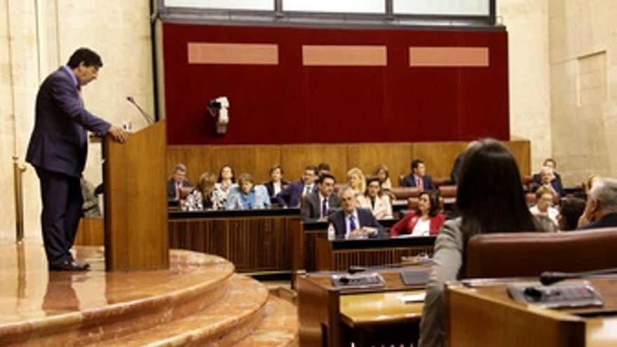 Diego Valderas, Durante Su Intervención En El Debate De Investidura