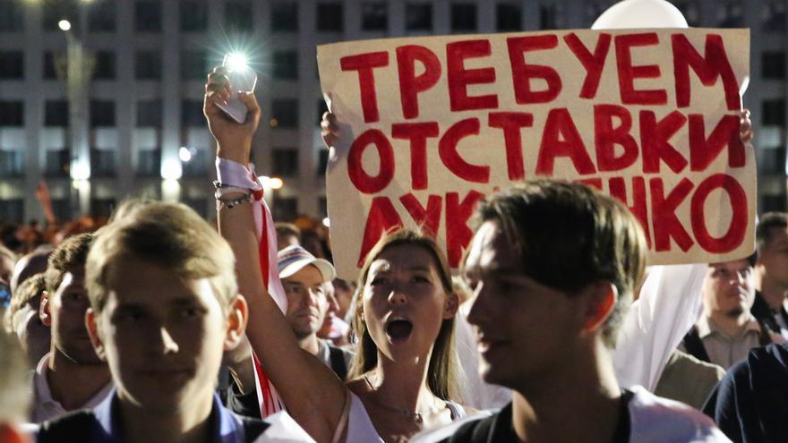 Lukashenko acusa a Occidente de financiar abiertamente las protestas