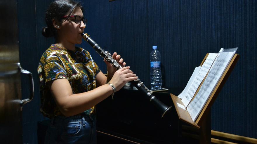 María Romero, en una cabina de ensayo | N.C.