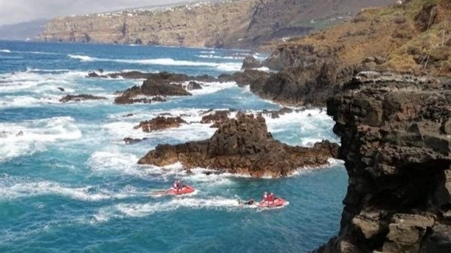 Búsqueda del joven caído al mar en la costa norte de Tenerife