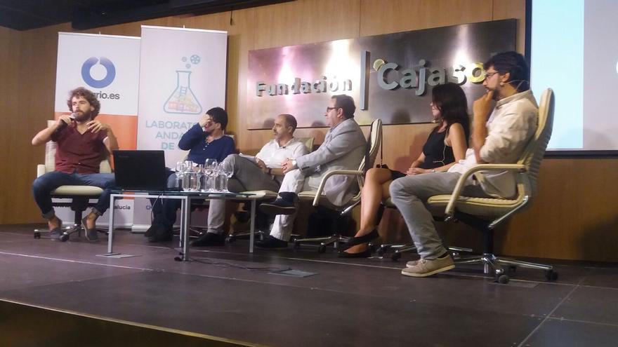 Alex Waudby, Luis Navarrete, Francisco Javier Cano, Antonio Gil, Patricia Abad y Raúl Díez