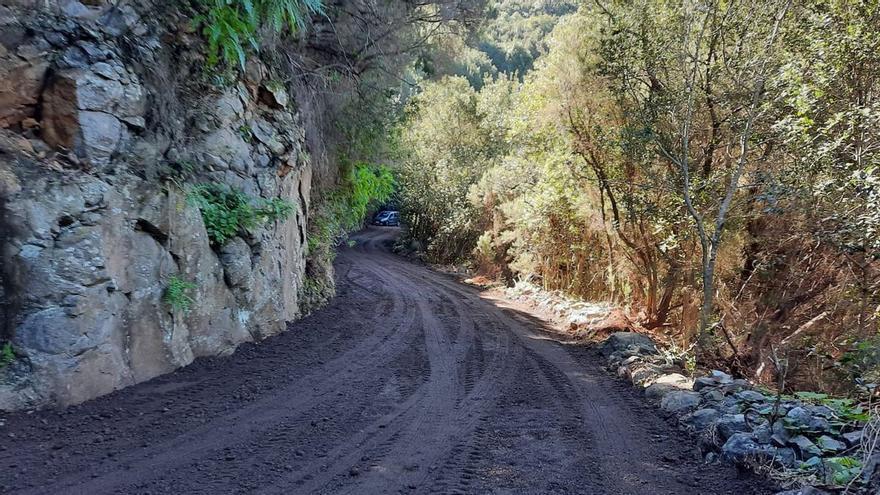 Cierre de la carretera de Gallegos por obras de asfaltado en la LP-1