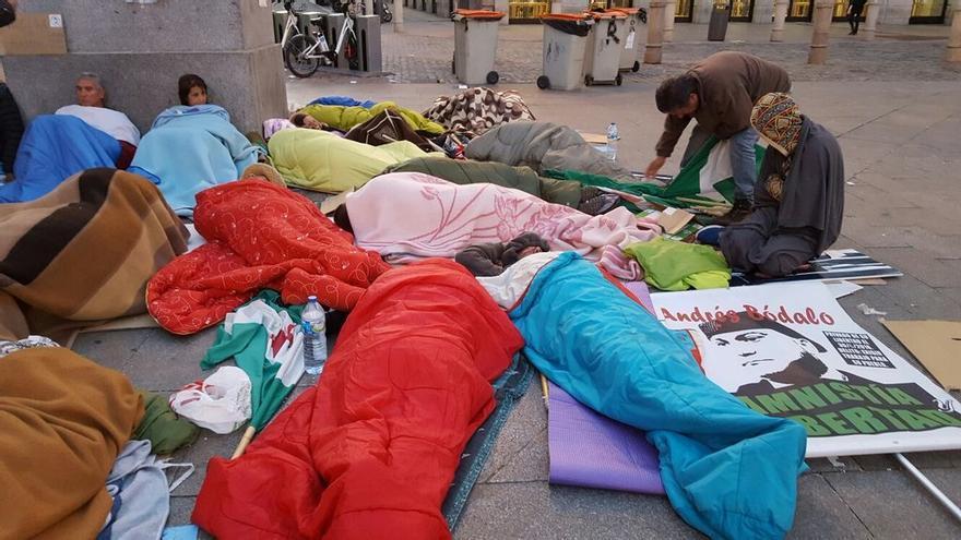 Acampada SAT en la Puerta del Sol / @SAT_nacional