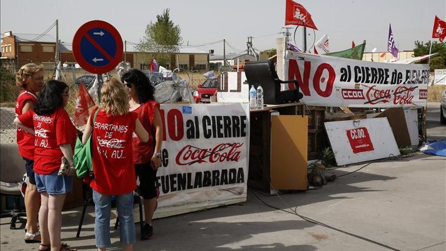 Los trabajadores de Coca-Cola en Fuenlabrada reinician movilizaciones