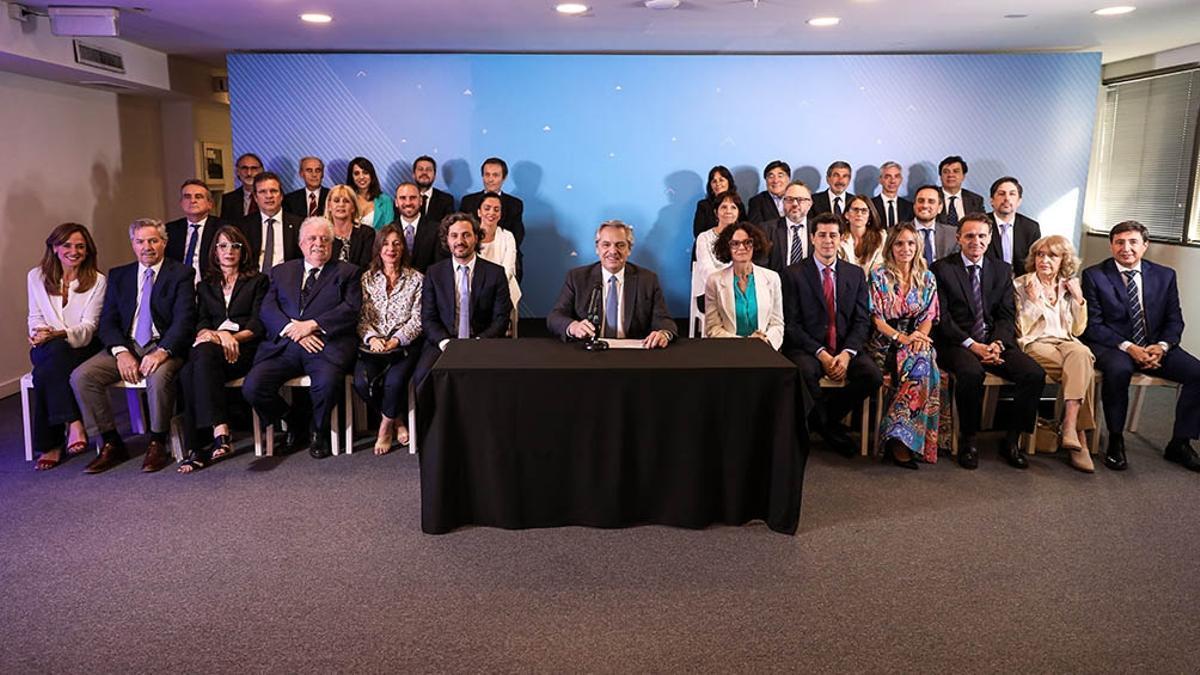 Fernández, el día de la presentación de su gabinete, en diciembre de 2019.